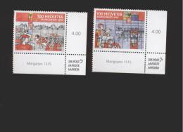 Schweiz  **  2390-2391 Historische Ereignisse Neuheiten März 2015 - Suiza
