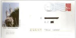 """Lettre  PAP   """" Voiron - Eglise Saint  Bruno  """" ( 38 )   03 - 05 - 2005  De Grenoble  ( 38 )  Sur Facsimilé  N° 3417 - PAP : Bijwerking /Luquet"""
