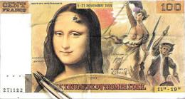100 Francs Mona Lisa - Le Salon Du Trompe L'oeil Salon Des Indépendants 5-21 Novembre 1993 - Fictifs & Spécimens