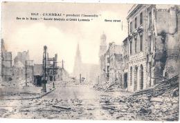 -59-  Cambrai Pendant L'incendie Rue De La Herse Neuve TTB - Cambrai
