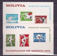 BOLIVIE  BLOCS NON DENTELES  JEUX OLYMPIQUES MEXICO 1968  MNH** - Zomer 1968: Mexico-City