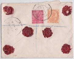 Bannu Pakistan To London - George V Stamped Registered Mail Cover 1938 - Letter - British India - Enveloppe Recommandée - Inde (...-1947)