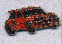 Pin´s  Sport  Automobile, Rallye, RENAULT  5  Turbo  Rouge  Signé  Logomobile - Rallye