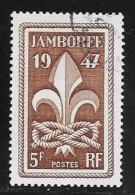 N° 787  FRANCE OBLITERE -  EMBLEME SCOUT -  1947 - Usados