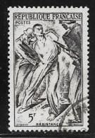 N° 790  FRANCE OBLITERE -  RESISTANCE  -  1947 - Usados