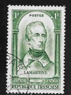 N° 795  FRANCE OBLITERE -  A.M.L. DE LAMARTINE  -  1948 - Usados