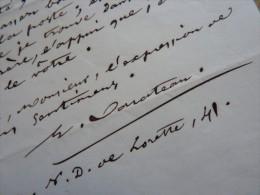 Emile BARATEAU (1792-1870) Chansonnier - Librettiste - Parolier - AUTOGRAPHE - Autographes