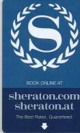 HOTEL SHERATON AUSTRIA, llave clef key keycard karte