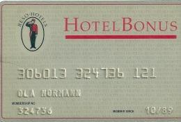 HOTEL BONUS SOKOS SWEDEN, llave clef card keycard karte