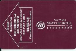 HOTEL MAYFAIR SHANGAI CHINA llave clef card keycard karte