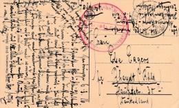 1916 Feldpost Card Of Bruges Nice KD Feldpost Der 1 Marine Div CDS+ Hafenkompagnie Zeebrugge Cachet - War 1914-18