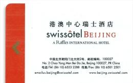 HOTEL SWISSOTEL BEIJING , BOC CREDIT CARD IN REVERSE llave clef card keycard karte