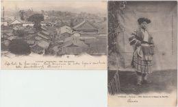 25909g YUNNAM - Chinese - Village - Panorama - Femme Region Kai-Wa - Serie 2 Cartes - Chine