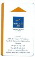 HOTEL NOVOTEL GARDEN PLAZA SAIGON VIETNAM llave clef card keycard karte