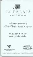 HOTEL LE PALAIS PRAGUE , BAWAG BANK IN REVERSE  llave clef card keycard karte