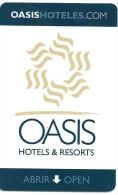 HOTEL OASIS HOTEL, CANCUN MEXICO?  Llave Clef Card Keycard Karte - Hotel Labels