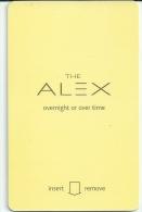 HOTEL THE ALEX NEW YORK   llave clef card keycard karte