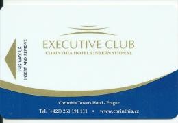 HOTEL CORINTHIA EXECUTIVE CLUB PRAGUE  llave clef card keycard karte