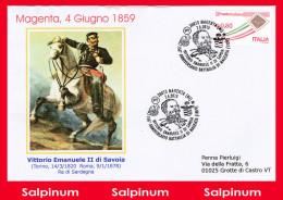 ANNULLO ANNIVERSARIO 156° BATTAGLIA MAGENTA - 1946-.. Republiek