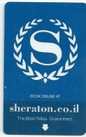 HOTEL SHERATON ISRAEL, H STERN JEWELRY REVERSE  llave clef card keycard karte