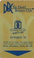 HOTEL THE DANIEL BUSINESS CLUB ISRAEL   llave clef card keycard karte