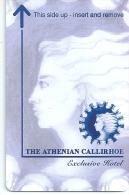 HOTEL ATHENIAN CALLIRHOE ATHENS GREECE   llave clef card keycard karte