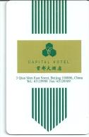 HOTEL CAPITAL BEIJING CHINA   llave clef card keycard karte