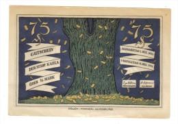 Asburg 1921 75 Pfennig  Lotto 1280 - [11] Emissioni Locali