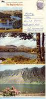 LETTERCARD W. 6 Different View Of Lakes In England - England