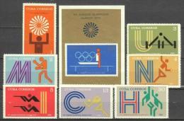 Cuba 1972 Mi 1790-1796 + Block 38 MNH OLYMPICS - Summer 1972: Munich