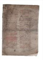Deux Feuillets(4 Pages) Vélin.format 25 X 18 Cm.Notation Neumatique Carrée Typique Du Plaint Chant. - Partitions Musicales Anciennes