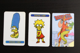I Simpson 3 Schede Telefoniche Phone Card Americane Lisa Marge Uomo Radioattivo - Schede Telefoniche