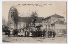 S1579 @ 77 @ LA CHAPELLE GAUTHIER @ BELLE CPA : LA MAIRIE ET EGLISE @ A VOIR - France