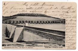 GROSBOIS EN MONTAGNE-1903-La Digue Du Réservoir éd Tribet-Beau Cachet  17.08.03-Pouilly En Auxois-Vue Pas Très Courante- - Autres Communes