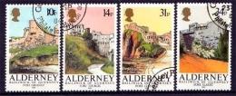 Alderney MiNr. 28/31 O, Festungen Von Alderney - Alderney