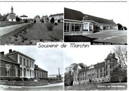 Souvenir De Marchin - Multi-vues - Hôtel - Ecole - Château - 2 Scans - Marchin