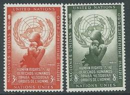 1954 NAZIONI UNITE ONU NEW YORK DIRITTI DELL'UOMO MNH ** - VA51 - New York -  VN Hauptquartier