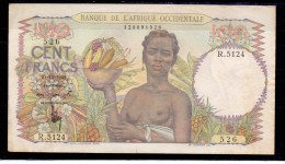 AOF French West Africa 100 Fr 1943 Fine + - Andere - Afrika