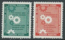 1958 NAZIONI UNITE ONU NEW YORK CONSIGLIO ECONOMICO E SOCIALE MNH ** - VA51 - Ungebraucht