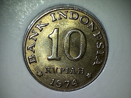 Indonesie 10 Rupiah 1974
