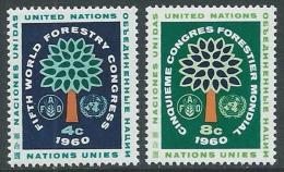1960 NAZIONI UNITE ONU NEW YORK CONGRESSO FORESTALE A SEATTLE MNH ** - VA51 - New York - Sede Centrale Delle NU