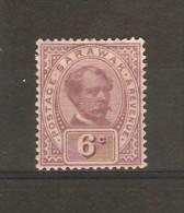 SARAWAK 1888 - 1897 6c SG 13  MOUNTED MINT Cat £28 - Sarawak (...-1963)