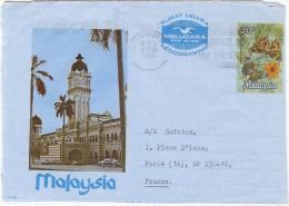 LBEL - MALAYSIA AEROGRAMME VOYAGE  THÈME PAPILLONS - Malaysia (1964-...)