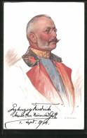 CPA Illustrateur O. Brüch: Armee-Ober-Kommandant Erzherzog Friedrich - Weltkrieg 1914-18
