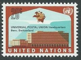 1971 NAZIONI UNITE ONU NEW YORK SEDE UPU A BERNA MNH ** - VA52 - New York -  VN Hauptquartier