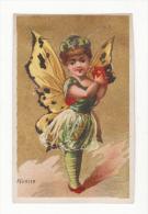 Chromo  MOYEN LESSELIN  à Amiens   Mois De Février    Femme-papillon - Chromos