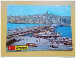 ISTANBUL,brod-ship-navire-barco-schip, MOST, BRIDGE, BRUCK, PONT , GALATA - Turchia