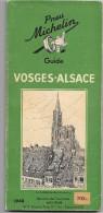 Guide Du Pneu Michelin  VOSGES - ALSACE : 1948 - Michelin (guides)