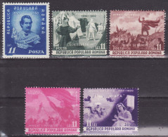 ROMANIA 1950. MNH (**), Mi 1196/00 VF - 1948-.... Republiken
