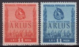 ROMANIA 1950. MNH (**), Mi 1240/41 VF - 1948-.... Republieken